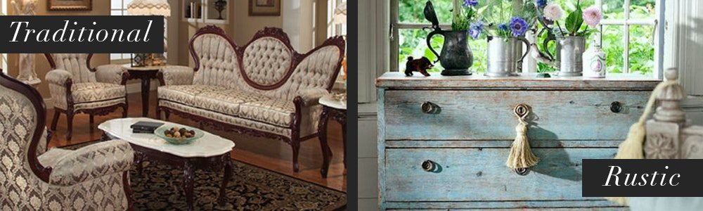 Traditional VS Rustic Furniture